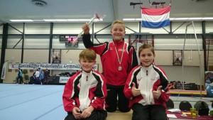 Kay Driessen 2e plaats 3e divisie Instap met Sef en Ruben