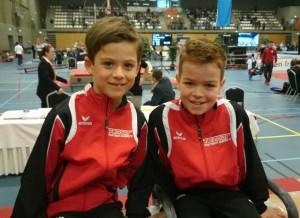 vlnr Wouter 11e en Roel 6e in kwart finale